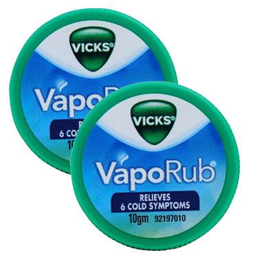 Vicks Vaporub Relives 6 Cold  Pack Of 2