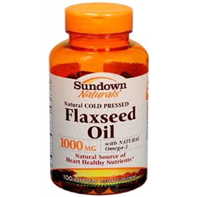 Rexall Sundown Naturals Flaxseed Oil 1000 mg 100 Softgels