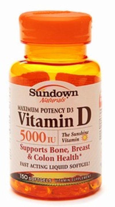 Sundown naturals Vitamin D3 150 Softgels