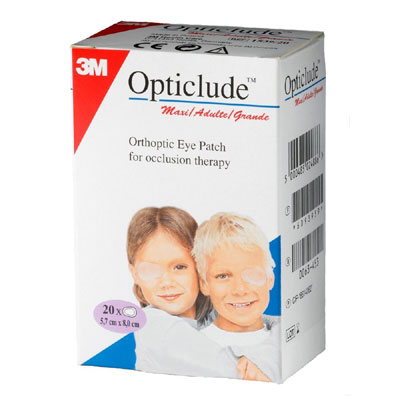 3M Opticlude Orthoptic Eye Patch 5.7cm8cm 1539 Box of 20