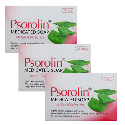 Psorolin Medicated Bathing Bar Pack Of 3 75 gm