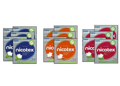Nicotex Nicotine Pan Mint Plus  and Cinnamon Gums 2 mg  15 boxes
