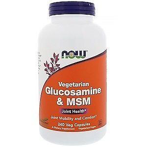 Now Foods Vegetarian Glucosamine  MSM 240 Veg Capsules