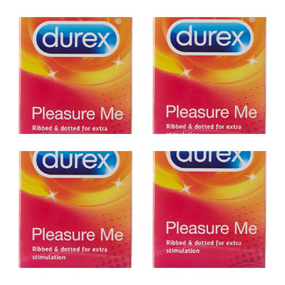 Durex Condoms 10s Pleasure me pack of 4