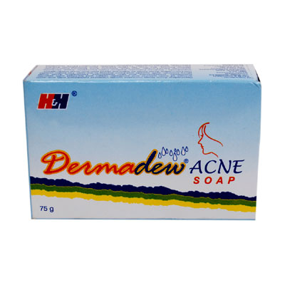 Dermadew Acne Soap 75gm pack of 2