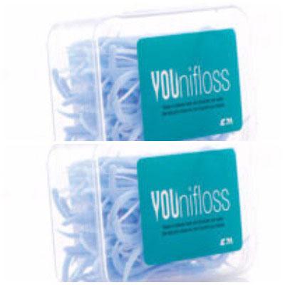 Younifloss Dental floss 50s pack of 2