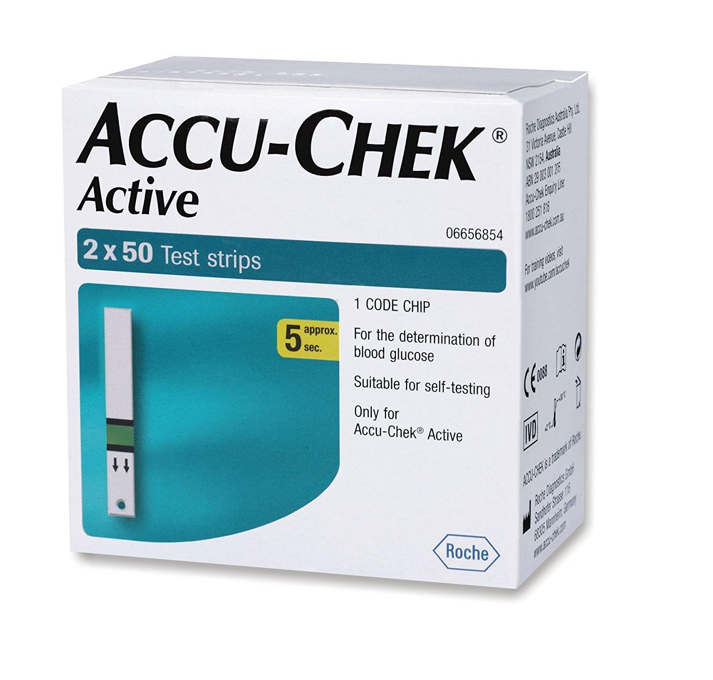 Accu Chek  acytive Test Strips  2*50 Count