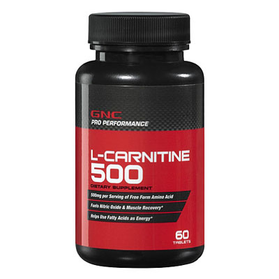 GNC Pro performance L Carnitine 500mg 60tablets