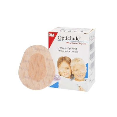 3M Opticlude 1537 Orthoptic Boys and Girls Junior Eye Patches Coloured  Mini Size Pack of 20