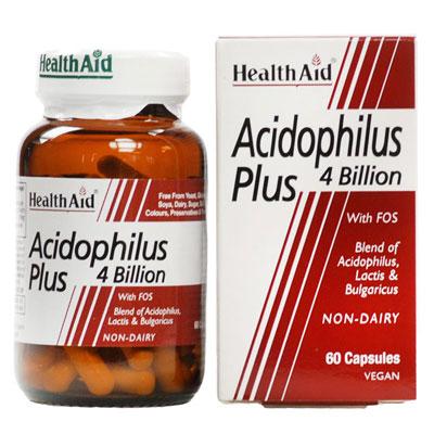 Health Aid Acidophilus plus 4 Billion 60 Caps
